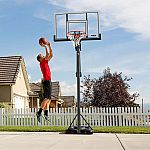 "Lifetime 90675 52"" Steel-Framed Acrylic, Power Lift, XL Base Portable Basketball System $249"