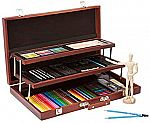 ALEX 132-Piece Art Studio Expressions Deluxe Wooden Drawing Case $33.50 (Save 75%)