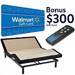 Sealy Ease Adjustable Bed Base +  $300 Walmart Gift Card Bundle from $559 to $589