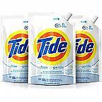 3-Pack 48oz. Tide HE Liquid Laundry Detergent Pouches $13.50