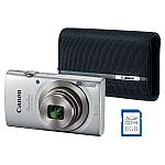 Canon ELPH180 Point & Shoot Camera Bundle with 8x Optical Zoom $99