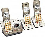 AT&T EL52313 3-Handset Expandable Cordless Phone with Answering System & Extra-large Backlit Keys $39