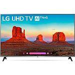 "LG 55UK7700PUD 55"" Class 4K HDR Smart LED AI UHD TV w/ThinQ (2018 Model) $549 and more"