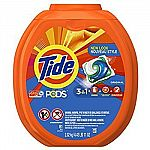 81-Count Tide Pods HE Laundry Detergent Pacs (Various Scents) $15