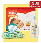 Free $30 gift card with purchase of $100 diapers, wipes & toiletries