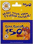 $50 Build-A-Bear Workshop Gift Card $40