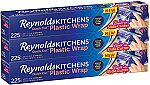 Reynolds Kitchens Plastic Wrap (225 Square Foot Roll, Pack of 3) $9