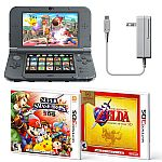 Nintendo New 3DS XL Console (Black) w/ Super Smash Bros 3D + Zelda: Ocarina of Time 3D $190 + Free Google Home Mini