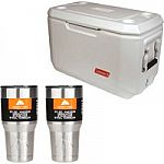 Coleman 70 qt Xtreme Marine Cooler with 2 Stainless Steel 30oz Tumblers Value Bundle $37