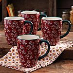 The Pioneer Woman 4-pack Fall Flowers 26oz. Latte Mug Set $10.88