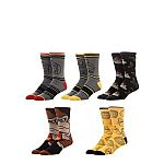 5-Pack License Men's Donkey Kong Crew Socks $4.50 and more