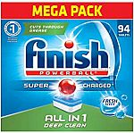 94ct Finish All in 1 Dishwasher Detergent Powerball Dishwashing Tablets - Dish Tabs $11.34