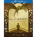 Game of Thrones: Complete 2nd, 4th, 5th Season (Blu-ray) $10 each