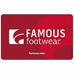 $50 Famous Footwear Gift Card $40