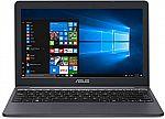 """ASUS VivoBook E203MA Ultra Thin Laptop (Celeron N4000 4GB 64GB 11.6"""" HD E203MA-YS03) $169"""