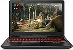 "ASUS TUF FX504 15.6"" Gaming Laptop (i5-8300H 8GB 1TB SSHD GTX 1050) $699"