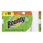8-Pack Bounty Paper Towels Large Rolls White $7.99