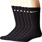 NIKE Performance Cushion Crew Socks with Band (6 Pairs) $12