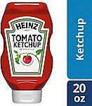 6-Pack of 20-oz Heinz Tomato Ketchup Easy Squeeze Bottle $10.26 or Less