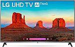 """LG 55UK7700PUD 55"""" 4K AI ThinQ HDR LED TV (2018 Model) $549"""