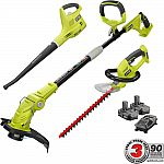 Ryobi ONE+ 18-Volt Lithium-Ion Cordless Trimmer/Blower/Hedge Combo Kit w/ 2x 1.3Ah Batteries $179 and More