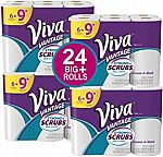 24-Count Viva Vantage Choose-A-Sheet Paper Towels, White, Big Plus Roll $21 or Less