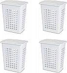 4-Pack Sterilite Rectangular LiftTop Laundry Hamper $18.54