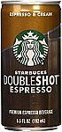 12-Pk of 6.5-oz Starbucks Doubleshot, Espresso + Cream $13 and more