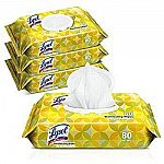 4-Pk of 80-Ct Lysol Handi-Pack Disinfecting Wipes $10