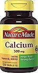 13-count Nature Made Calcium (Carbonate) 500 mg w. Vitamin D3 400 IU Tablets $5.29 & More