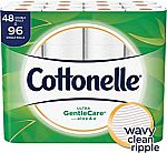 48 Double Rolls Cottonelle Ultra GentleCare Sensitive Toilet Paper with Aloe & Vitamin E $18.41 or Less