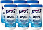 6-Pack Purell Hand Sanitizing Wipes, 40 Count Canisters $10.93