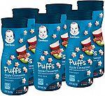 6-Ct Gerber Graduates Puffs Cereal Snack $7.64