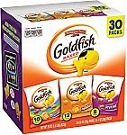 30-Bags Pepperidge Farm Goldfish Crackers (Variety Pack) $7 or Less