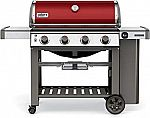 Genesis II E-410 4-Burner Propane Gas Grill in Crimson with Built-In Thermometer $699 ($200 off)