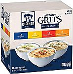 48-Count of 0.98oz Quaker Instant Grits Variety Pack $4.87 or Less