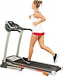 Sunny Health & Fitness Treadmill with Manual Incline and LCD Display $200