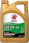 5-Quart Idemitsu 0W-20 SN/GF-5 Full Synthetic Engine Oil $15.73