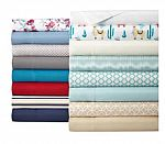 Home Expressions Microfiber Easy Care Wrinkle Resistant Sheet Set twin $5.59, full/queen/king $10.49