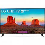 "LG 4K HDR Smart LED AI UHD TV w/ThinQ (2018 Model) + Google Home Mini 55"" $549, 65"" $899 and more"