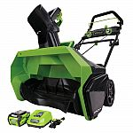 "GreenWorks G-MAX 40V 20"" Cordless Snow Blower with Battery and Charger $145 (50% Off)"
