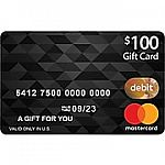 $100 Mastercard Gift Card No Activation Fee (Online Only)