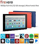 Fire HD 10 Tablet 32GB with Alexa Hands-Free $100 (or less with Amex reward offers)