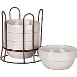 Mainstays 4-Pack Bowl w /Copper Wire Rack $4.99, Mainstays 6-Pack Bowl w/Copper Rack $6.99 & More