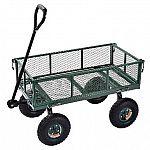 """Sandusky CW3418 Heavy-Duty Steel Utility Crate Wagon 34"""" x 18"""" $55, Muscle Rack 5-Level Steel Shelving $50"""