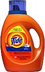 100 oz Tide HE Turbo Clean Liquid Laundry Detergent $10