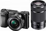 Sony - Alpha a6000 Mirrorless Camera with 16-50mm and 55-210mm Lenses $499.99
