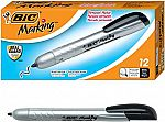 12-Count BIC Marking Retractable Permanent Marker (Fine Point, Black) $4