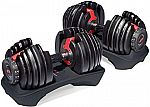 Bowflex SelectTech 552 Dumbbells with Workout DVD + Get $202 Back in SYW Points $249