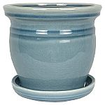 Lowes Up to 75% Off Select Planters (YMMV): Pennington 10.04-in W x 9.06-in H Blue Ceramic Nantucket Planter $10 & More